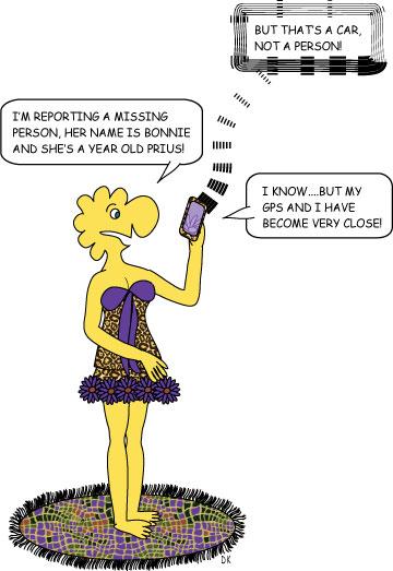 toon funny prius gps runaway missing perosn cartoon